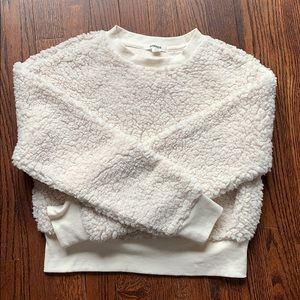 Garage White Fur Sweatshirt
